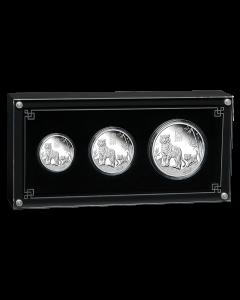 2022 澳洲农历生肖系列 III - 虎年.9999精铸银币3枚套装