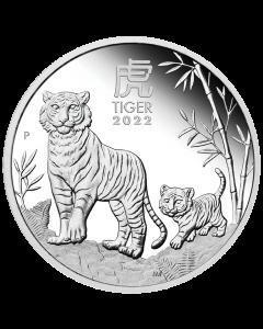 2022 澳洲农历生肖系列 III虎年.9999精铸银币 1/2盎司