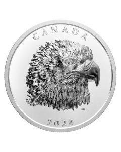 2020年1盎司加拿大骄傲的秃鹰.9999超高浮雕精铸银币
