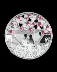 2020 喀麦隆 爱的感受 精铸银币 17.5克