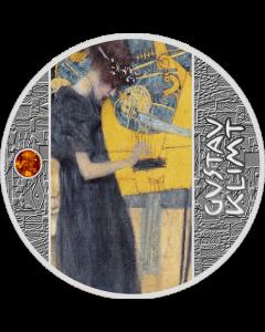 2020 纽埃古斯塔夫·克里姆特-音乐 .999银币 17.5克