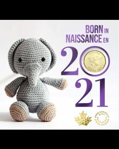 2021加拿大$1婴儿钱币礼品套装