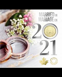2021加拿大$1婚礼钱币礼品套装