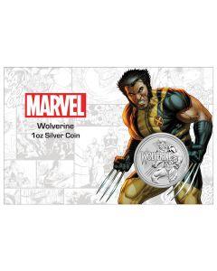 2021 图瓦卢漫威系列金刚狼 .9999普铸银币卡册1盎司