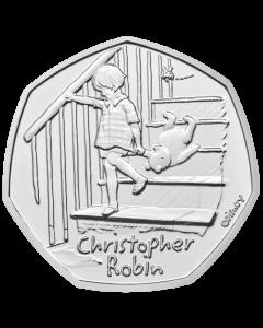 2020 英国小熊维尼系列 - 克里斯多福罗多宾铜镍币 8克