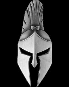 2021 斐济古代勇士系列-斯巴达战士面具 .999仿古银币2盎司
