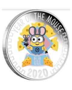 2020 纽埃迷你兵团鼠年生肖.999 精铸银币1盎司