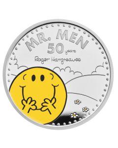 2021年 英国《奇先生妙小姐》50周年-奇先生.999纪念银币 1盎司