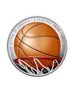 2020 美国篮球名人纪念堂 铜镍币 11.34克